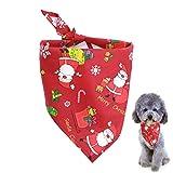 Legendog Pet Bandana Santa Pattern Triangle Scarf Dog Bandana Cat Bandana for Christmas