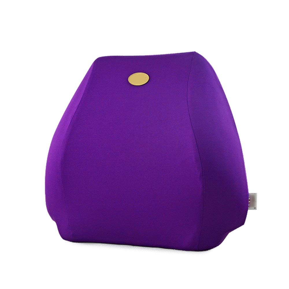 TTVUSGDW Cushion Solid Color Filling Space Memory Cotton Ergonomic Breathable Protect and Soothe Your Back (Color : Purple, Size : 40 X 40 X 11CM) by TTVUSGDW