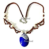 BlingSoul Disney Blue Seashell Necklace - Moana Maui Necklace Jewelry for Women