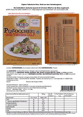 MORO Pizzocheri della Valtellina I.G.P. 7 x 500g = 3500g Teigwaren aus Hartweizen und Buchweizen 20%