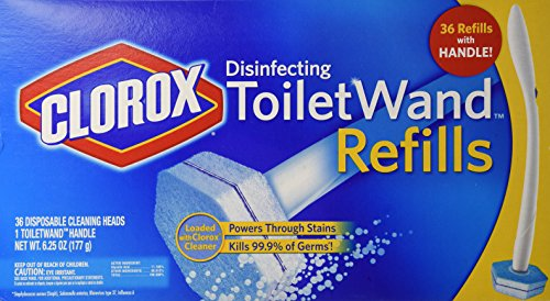 Clorox Toilet Wand Disinfecting Refill, 36 Refills