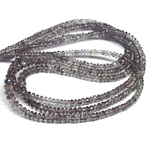 GemAbyss Beads Gemstone Natural Rare Scapolite Faceted Rondelle Micro Gemstone Craft Loose Beads Strand 18 Inch Long 3mm 6mm Code-MVG-350