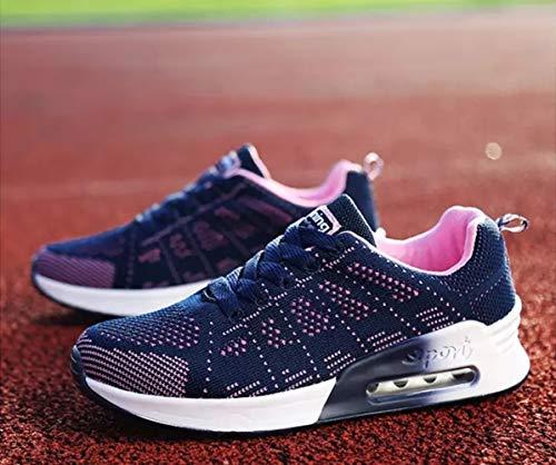Grigio Fitness Donna Scarpe 44 Allacciare da Running da Nero 1 35 Cushion Blu Blu Maglia Ginnastica Air Sneaker Sports Bianco PAMRAY 8q5nOxO