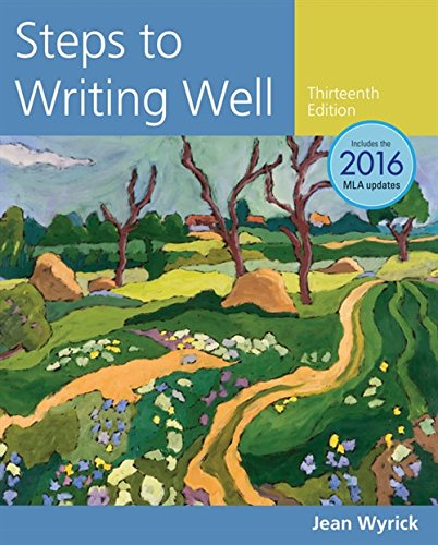 Steps to Writing Well, 2016 MLA Update