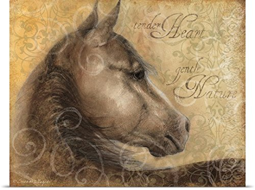 Susan Winget Poster Print entitled Tender Heart Horse