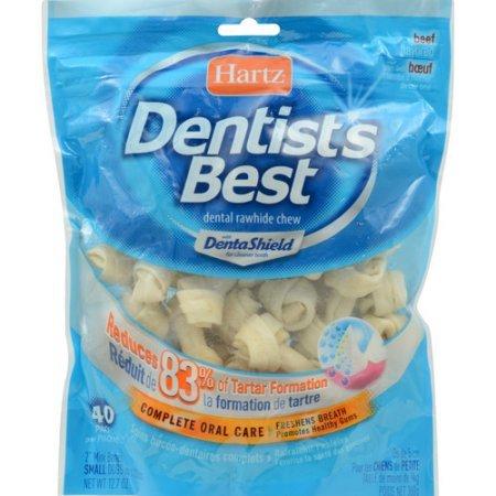 Hartz-Dentists-Best-Mini-Rawhide-Bones-40-count-3-Pack