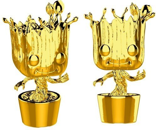 Funko Pop Marvel Studios 10-Groot (Gold Chrome) Collectible Figure, Multicolor