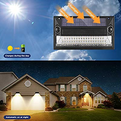 Westinghouse Wireless Linkable Intelligent Solar Motion Sensor Lights Outdoor,