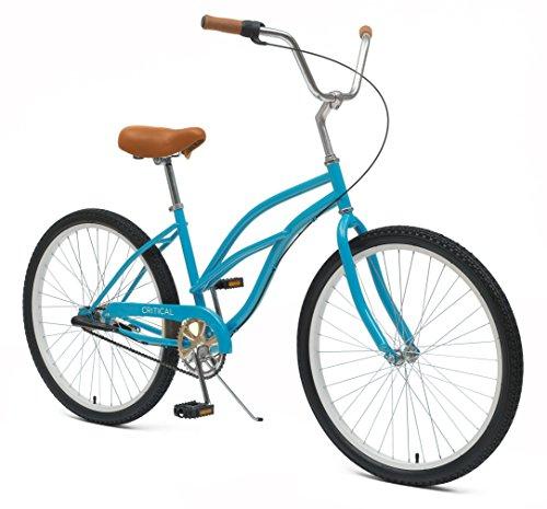 Critical Cycles Women's Beach Cruiser 3-Speed Bike, Turquoise, 16-Inch/One (Nirve 3 Speed Cruiser)