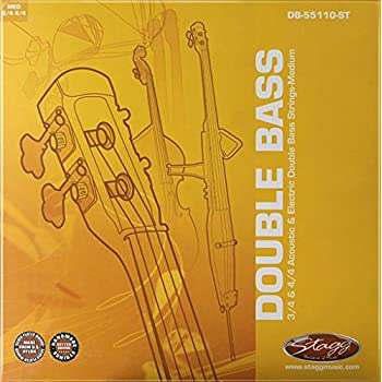 stagg db 55110 st double bass string set for 3 4 and 4 4 musical instruments. Black Bedroom Furniture Sets. Home Design Ideas
