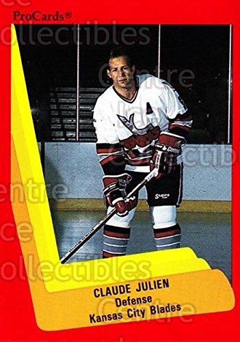 Ci  Claude Julien Hockey Card 1990 91 Procards Ahl Ihl 587 Claude Julien