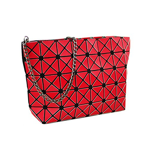Joint Bags Gold body Red Flada Women Plaid Shoulder Cross For Ladies Handbags Diamond Geometric Matte Sanding Split Lattice qaFEXa