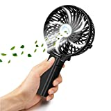 VersionTech Multipurpose Collapsible Portable Fan Outdoor Fan Clip Fan Desktop Fan(3 Speed, Black)