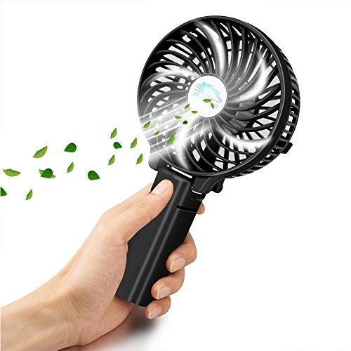 VersionTech Multipurpose Collapsible Portable Fan Outdoor Fan Clip Fan Desktop Fan(3 Speed, Black)