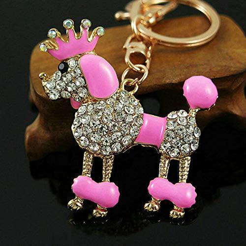 Lovely Pet Dog Keyring Rhinestone Crystal Charm Pendant Keychain Bag car Gift (Style. - YSKZ-656)