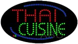 15''x27'' Animated Thai Cuisine LED Sign w/Flashing Controller