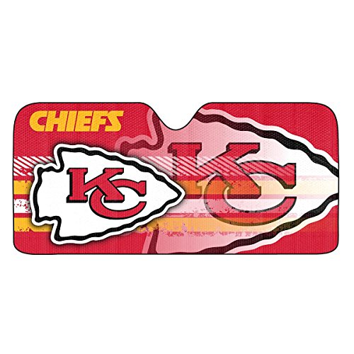 NFL Kansas City Chiefs Universal Auto Shade, Red ()