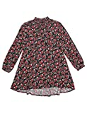Replay Girls Printed Floral Crepe Dress In Black in Size 14 Years Black