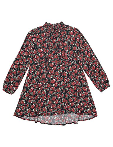 REPLAY Girls Printed Floral Crepe Dress In Black In Size 8 Years Black by Replay