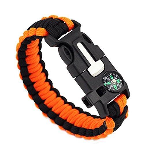 283 opinioni per ZENDY braccialetto corda Paracord con l'acciaio raschietto Firestarter e