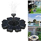 E-dance Solar Powered Fountain Pump 8V 1.6W Solar Panel Floating Water Fountain Pump Kit for Bird Bath Pool Pond Garden