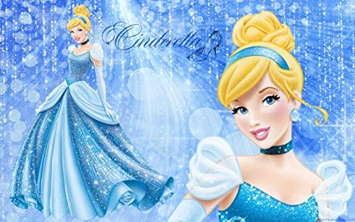 Disney Princess Cinderella Glass Slipper Ballgown Edible Cake Topper Image ABPID03658 - 1/4 sheet