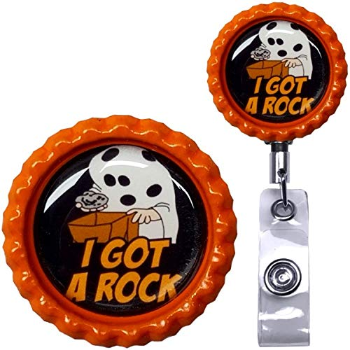 Great Pumpkin Charlie Brown Inspired Halloween Real Charming Premium Decorative ID Badge Holder (Charlie Brown Belt Clip HD) ()