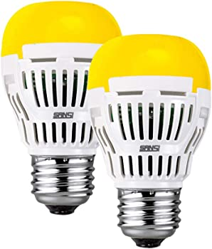 2-Pack Sansi 8W LED Yellow Bulb