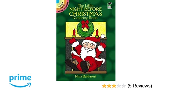 The Little Night Before Christmas Coloring Book (Dover Little ...