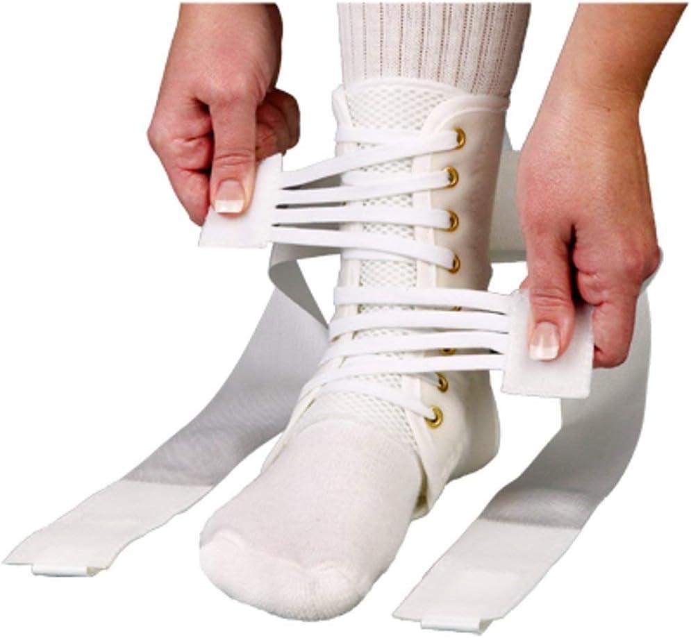 ASO Speed Lacer Ankle Brace (Medium - White) by Medspec/ASO Braces
