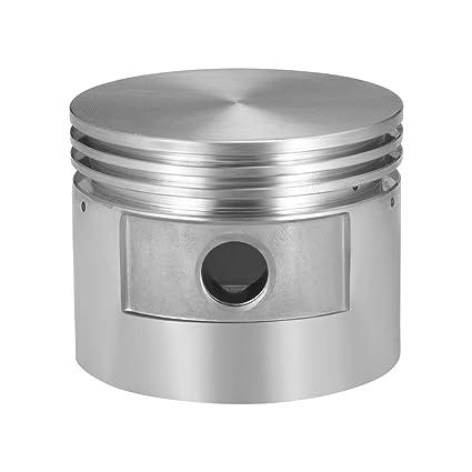 sourcing map Compresor de aire motor pistón aleación de aluminio 80 mm diámetro 62 mm altura