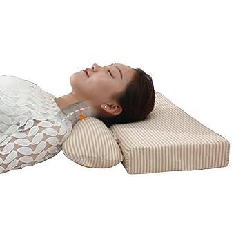 Tcare Almohada de Apoyo Cervical Inflable para Cuello de Salud, Almohada de Columna Vertebral Adulto