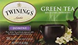Twinings of London Jasmine Green Tea Bags, 20 Count