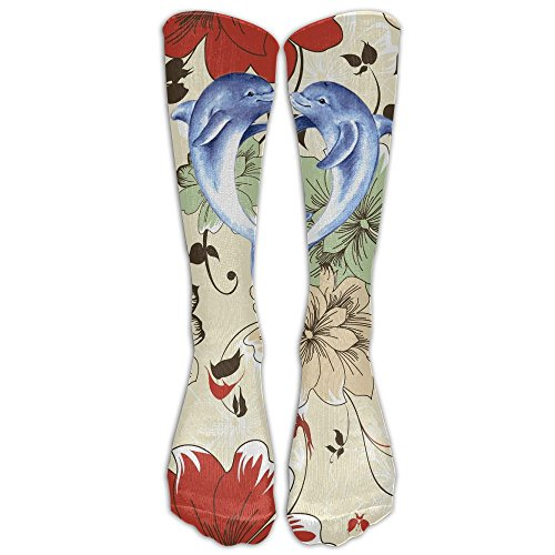 PIOL Men&Women Couple Dolphin Draw A Heart Printed Crew Socks Warm Over Boots Stocking Trendy Long Socks. by PIOL