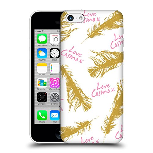 Official Cosmopolitan Gold Feathers Love Cosmo Hard Back Case for Apple iPhone 5c
