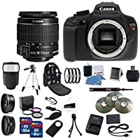 Canon EOS Rebel T5 Digital SLR Camera Kit with EF-S 18-55mm IS II Lens Complete Mega Kit Ultimate Professional Camera Accessory Bundle Noticeable Review Image