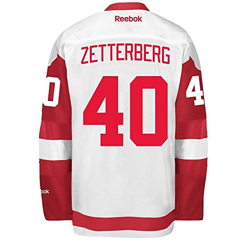 Henrik Zetterberg 2016-17 Detroit Red Wings White REEBOK Premier Team Player Jersey Men's