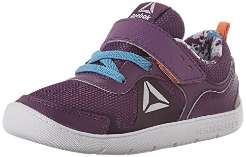 Price comparison product image Reebok Kids Baby Girl's Ventureflex Stride 5.0 (Toddler) Aubergine / Blue Beam / Vitamin C / White Athletic Shoe