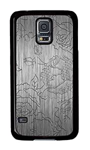 Samsung S5 Case,VUTTOO Samsung S5 Cover With Photo: Embossed Rose Pattern For Samsung Galaxy S5 / Galaxy SV / Galaxy S V - PC Black Hard Case