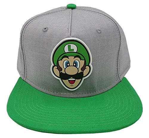 (bioWorld Nintendo Super Mario Bros - Luigi Rubber Logo Snapback)
