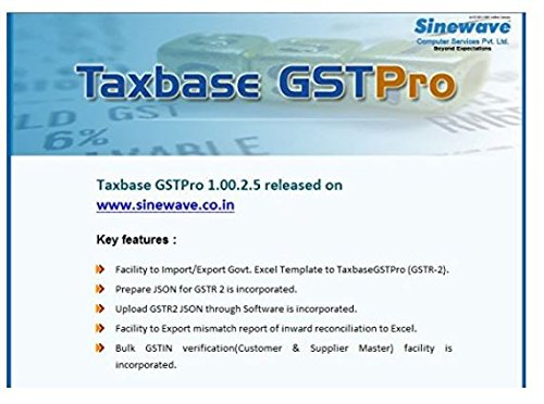 Taxbase GSTPro - GST Software: Amazon in: Software