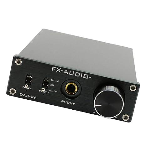 F Fityle DAC-X6 Amplificador de Auriculares Decodificador DAC Interfaz de Entrada de PC-