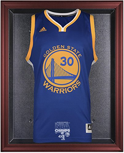 Golden State Warriors 2015 NBA Finals Champions Logo Mahogany Framed Jersey Display Case - Fanatics Authentic Certified by Sports Memorabilia