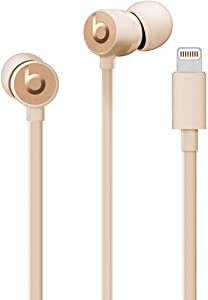 Beats urBeats3 Wired Earphones with Lightning Connector - Satin Gold (MUHW2LL/A) (Renewed)
