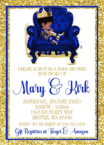 (Prince Baby Shower Invitations, Prince Baby Shower Supplies, Little Prince Baby Shower Invitations with Envelopes)