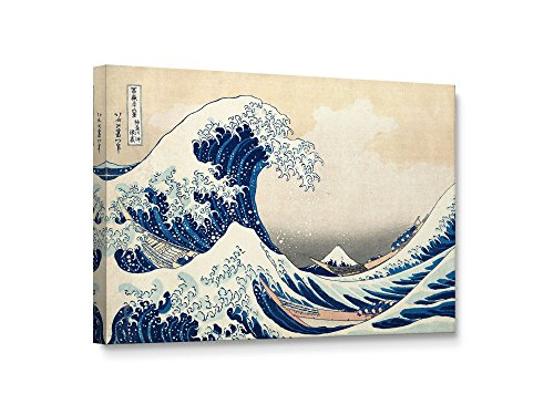 Niwo Art TM - The Great Wave off Kanagawa, by Katsushika Hokusai Reproduction - Giclee Wall Art for Home Decor, Gallery Wrapped, Stretched, Framed Ready to Hang (18