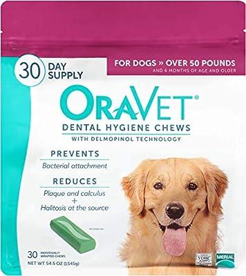 OraVet Dental Hygiene Chews for Large Dogs, 30 Count