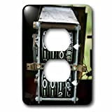 3dRose Danita Delimont - Tucumcari - Antique gas pump counting machine, Tucumcari, New Mexico, Route 66. - Light Switch Covers - 2 plug outlet cover (lsp_251224_6)