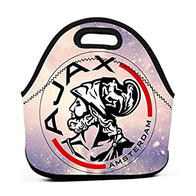 Huaichuanhua AFC Ajax Amsterdam Club Socce Waterproof Lunch Tote Bag Portable Picnic Lunch Box Lunch Pouch