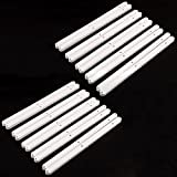 7 inch drawer slides - Drawer Slides Heavy Duty Off White Plastic Cabinet Drawer Rails Smooth Bearing Cabinet Runners Slide Complete Kitchen Units 300mm Long x 16mm Wide x 13mm Deep (6Pairs)